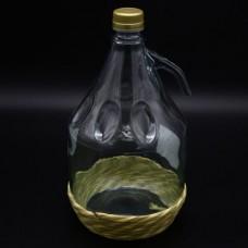 Бутыль Дама, 3л (оплетка) Винтовая