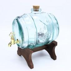Бочка-емкость с краном, 2л (стекло)